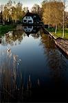 House Reflected in Canal, Belt-Schutsloot, Overijssel, Netherlands