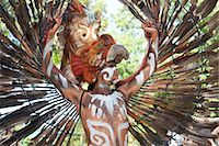 Man in Traditional Costume, Xcaret, Mexico Stock Photo - Premium Rights-Managednull, Code: 700-03456782