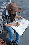 Woman Looking at Map, Mannheim, Baden-Wurttemberg, Germany Stock Photo - Premium Royalty-Free, Artist: KL Services, Code: 600-03456847