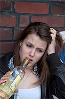Underage Girl Drinking Alcohol Stock Photo - Premium Rights-Managednull, Code: 700-03456805