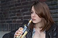 Teenage Girl Drinking Alcohol Stock Photo - Premium Rights-Managednull, Code: 700-03456806