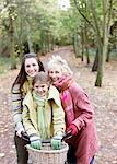 Grandmother, mother and daughter riding bicycles in park Stock Photo - Premium Royalty-Freenull, Code: 635-03457389