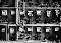 Close up of wires and old-fashioned meters Stock Photo - Premium Royalty-Freenull, Code: 635-03457727