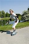 Senior woman inline skating, high size Stock Photo - Premium Rights-Managed, Artist: F1Online, Code: 853-03458834