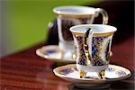 Two tea cups on a table, close-up Stock Photo - Premium Rights-Managed, Artist: F1Online, Code: 853-03458927