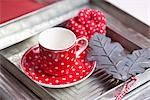 Tea cup on a serving tray, close-up Stock Photo - Premium Rights-Managed, Artist: F1Online, Code: 853-03458933