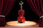 A Double Bass On A Theatre Stage Stock Photo - Premium Royalty-Free, Artist: Aflo Relax               , Code: 653-03459772