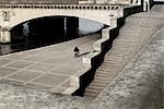 Man Riding Bicycle on the Bank of River Seine, Paris, France Stock Photo - Premium Rights-Managed, Artist: Hugh Burden, Code: 700-03460417