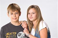 Portrait of Boy and Girl Stock Photo - Premium Royalty-Freenull, Code: 600-03463161