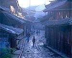 Lijiang old town, Yunnan Province - view down cobbled street Stock Photo - Premium Rights-Managed, Artist: Arcaid, Code: 845-03463315