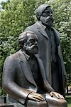 Statues of Karl Marx and, Marx-Engels-Forum, Berlin, Germany Stock Photo - Premium Rights-Managed, Artist: Arcaid, Code: 845-03463498