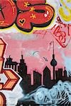 Wall with graffiti, Berlin. Stock Photo - Premium Rights-Managed, Artist: Arcaid, Code: 845-03463517