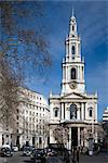 St. Mary-le-Strand, The Strand, London. 1717. Architects: James Gibbs