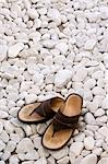 Sandals on white stones. Stock Photo - Premium Rights-Managed, Artist: Arcaid, Code: 845-03463668