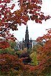 Autumn view of the Walter Scott Memorial from Princes Gardens, Edinburgh. Stock Photo - Premium Rights-Managed, Artist: Arcaid, Code: 845-03463786