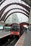 Docklands Light Railway Train at Canary Wharf station, London. Stock Photo - Premium Rights-Managed, Artist: Arcaid, Code: 845-03463852