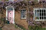 House with wisteria, Kew, London