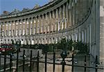 Royal Crescent, Bath, Somerset, 1767 - 1775. Architects: John Wood, the Younger, John Wood Junior Stock Photo - Premium Rights-Managed, Artist: Arcaid, Code: 845-03464083