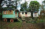 A gypsy caravan site, Cornwall Stock Photo - Premium Rights-Managed, Artist: Arcaid, Code: 845-03464467