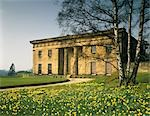 Belsay Hall. East Front in spring with daffodils. 1817. Architect: John Dobson Stock Photo - Premium Rights-Managed, Artist: Arcaid, Code: 845-03464655