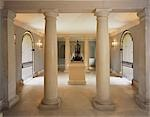 Chiswick House. Interior view of the ground floor of Link Building with John Cheere's lead sphinx. 1729. Architects: William Kent Stock Photo - Premium Rights-Managed, Artist: Arcaid, Code: 845-03464692