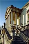 Chiswick House. Looking up the entrance steps towards the portico. 1729. Architect: William Kent Stock Photo - Premium Rights-Managed, Artist: Arcaid, Code: 845-03464695