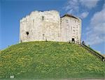 Clifford's Tower York.Exterior view of tower. Stock Photo - Premium Rights-Managed, Artist: Arcaid, Code: 845-03464699