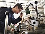 Apprentice Working With Basic Lathe Stock Photo - Premium Royalty-Free, Artist: Robert Harding Images, Code: 649-03466067