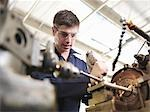 Apprentice Working With Lathe Stock Photo - Premium Royalty-Free, Artist: Peter Christopher, Code: 649-03466070