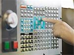 Controls Of CNC Machine Stock Photo - Premium Royalty-Free, Artist: ableimages, Code: 649-03466089
