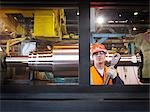 Engineer With Finished Steel Products Stock Photo - Premium Royalty-Free, Artist: Science Faction, Code: 649-03466180