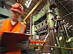 Engineer With Steel Forging Machine Stock Photo - Premium Royalty-Free, Artist: Science Faction, Code: 649-03466187