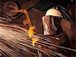 Steel Worker With Sparks Stock Photo - Premium Royalty-Free, Artist: Blend Images, Code: 649-03466189