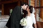 Portrait of Bride and Groom Kissing Stock Photo - Premium Rights-Managed, Artist: Marnie Burkhart, Code: 700-03466449