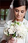 Portrait of Bride with Bouquet Stock Photo - Premium Rights-Managed, Artist: Marnie Burkhart, Code: 700-03466451