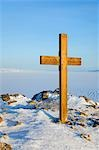 Cross on Observation Hill, Commemorating Captain Robert Falcon Scott and his Fatal Party, Ross Island, Antarctica Stock Photo - Premium Royalty-Free, Artist: Lalove Benedict, Code: 600-03466551