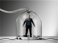 people in panic - Businessman Trapped inside of Pressurized Glass Dome Stock Photo - Premium Rights-Managednull, Code: 700-03466504