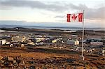 Canadian Flag over Iqaluit, Nunavut, Canada Stock Photo - Premium Rights-Managed, Artist: Hans Blohm, Code: 700-03466582