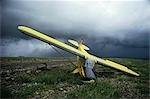 Abandoned Crashed Airplane beside Emergency Airstrip on Demster Highway, north of Dawson City, Nunavut, Canada Stock Photo - Premium Rights-Managed, Artist: Hans Blohm, Code: 700-03466625