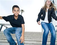 Portrait of Young Boy and Girl Stock Photo - Premium Rights-Managednull, Code: 700-03466729