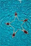 Synchronised swimmers form a star Stock Photo - Premium Royalty-Free, Artist: Aflo Sport               , Code: 693-03474151