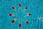 Synchronised swimmers form a star Stock Photo - Premium Royalty-Free, Artist: Aflo Sport               , Code: 693-03474152