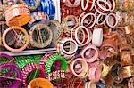 Bangles at a market stall, Pushkar, Rajasthan, India Stock Photo - Premium Royalty-Free, Artist: Photosindia, Code: 630-03479071