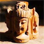 Close-up of a statue of Lord Shiva