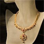 Necklace displaying on a mannequin, Delhi, India Stock Photo - Premium Royalty-Free, Artist: Blend Images, Code: 630-03480472