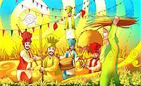 punjabi - People celebrating Baisakhi festival Stock Photo - Premium Royalty-Freenull, Code: 630-03481376