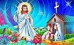 Jesus Christ blessing a family Stock Photo - Premium Royalty-Free, Artist: Robert Harding Images, Code: 630-03481382