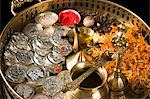 Close-up of religious offerings in a Diwali pooja thali Stock Photo - Premium Royalty-Free, Artist: Minden Pictures, Code: 630-03482080