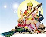 Hindu goddess Saraswati Stock Photo - Premium Royalty-Free, Artist: Christina Krutz, Code: 630-03482173