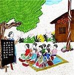 Scene of a rural school